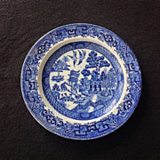 Wood & Sons Blue Willow Bread and Butter Plate Circa 1920s