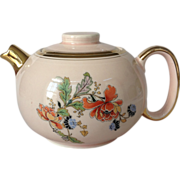W.S.George Ranchero Pink Teapot with Poppy Flowers