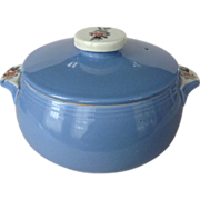 1940s Hall Rose Parade Blue Covered Casserole