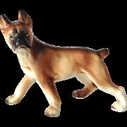 Vintage Porcelain Standing Boxer Dog Figurine Stamped Japan