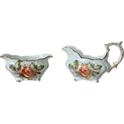 Hammersley Bone China England Morgan's Rose Cream and Sugar