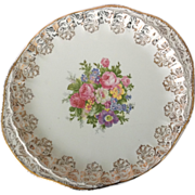 WS George Bolero Floral 22 kt Gold Filigree Two-Handled Platter