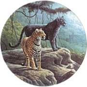 The Jaguar by Lee Cable 1989 Limited Edition Collector Plate
