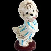 Walt Disney Shaggy Dog in Blue Striped Pajamas Enesco Figurine Circa 1960s