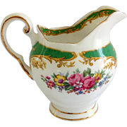 Tuscan Bone China Naples Green Floral Creamer