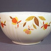 Two Hall Autumn Leaf 5 inch Rayed Bowls