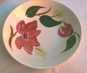 Stetson Rio Meadow Rose Hand Painted Serving Bowl