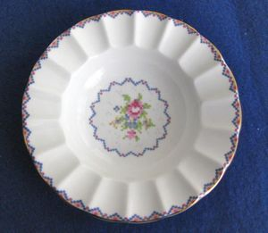 Royal Albert Petit Point Small Bowl with Fluted Rim