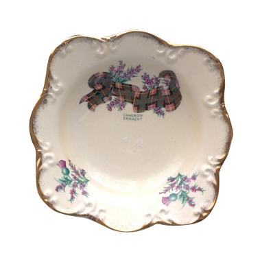 Crown Devon Tartan Series Cameron Erracht Small Square Bowl