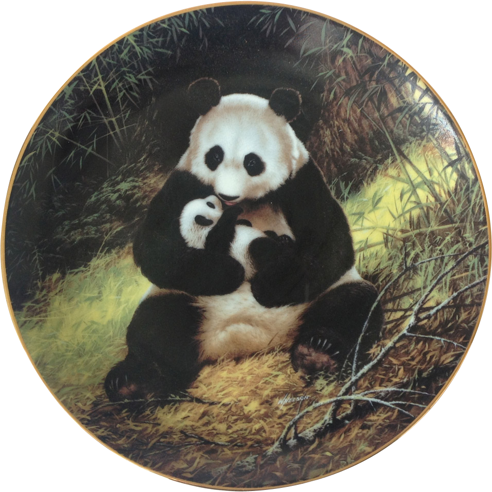The Panda by Will Nelson 1988 Limited Edition Collector Plate