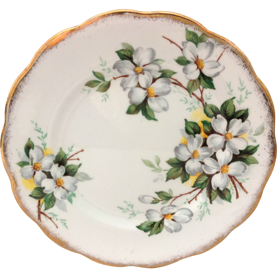Royal Albert White Dogwood Bone China Dessert Plate
