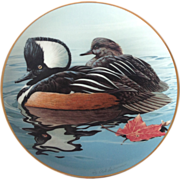 Hooded Mergansers by Rod Lawrence Limited Edition 1988 Collector Plate