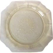 Hocking Princess Yellow Depression Glass 9-12 inch Dinner Plate