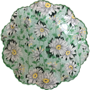 Shelley Bone China Chintz Green Daisy 4-1/2 inch Dainty Shape Nut Dish