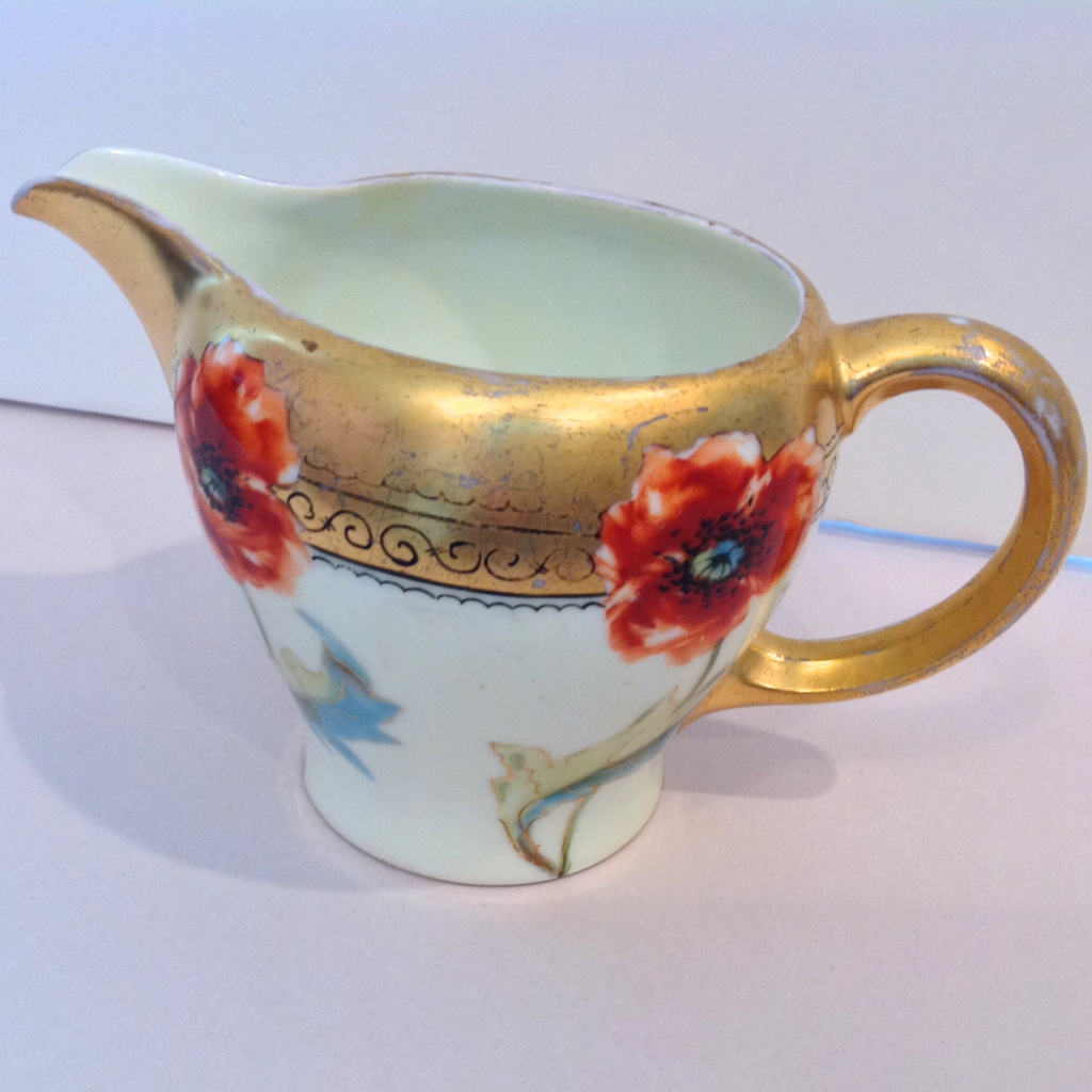 Rosenthal Pickard Hand Painted Poppies Creamer Artist