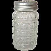 Anchor Hocking Vintage Glass #1830 Crystal Shaker