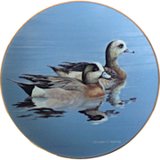 Federal Duck Stamp 'Wigeons' by William C. Morris 1991 Collector Plate