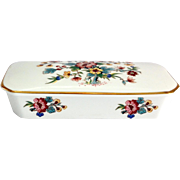Coalport Ming Rose Bone China Rectangular Covered Box