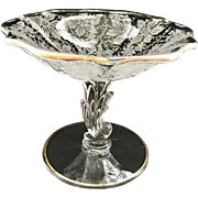 Fostoria Italian Lace Baroque Etched Glass Compote