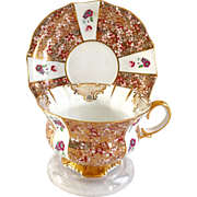 Collingwoods Staffordshire England Bone China Countess Gold Filigree Teacup and Saucer