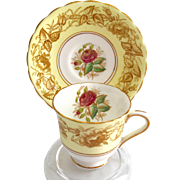 Cartwright and Edwards C&E Victoria Bone China England Chelsea Rose Yellow Demitasse Cup and Saucer
