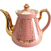 Hall China Philadelphia Gold Label Pink Teapot