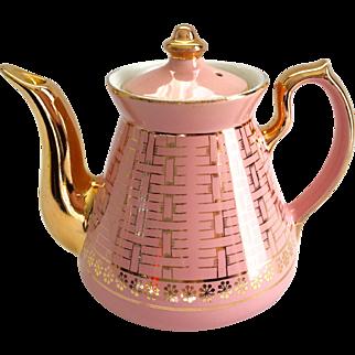Hall China Philadelphia Gold Label Pink Teapot