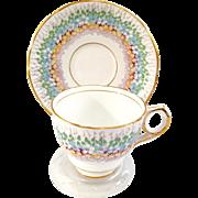 Royal Stafford England Bone China Glendale Teacup and Saucer