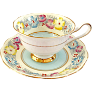 Royal Albert Bone China Dorothy Blue Teacup and Saucer