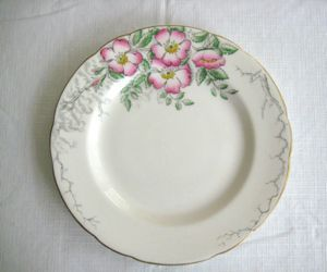 Hammersley Rose of England Bone China Dessert Plate