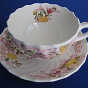 Copeland Spode Fairy Dell Cup and Saucer with Bread and Butter Plate