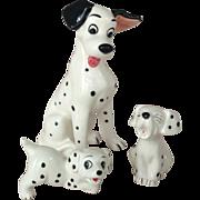 Vintage Pongo and Two Pups Disney Dalmatian Figurines