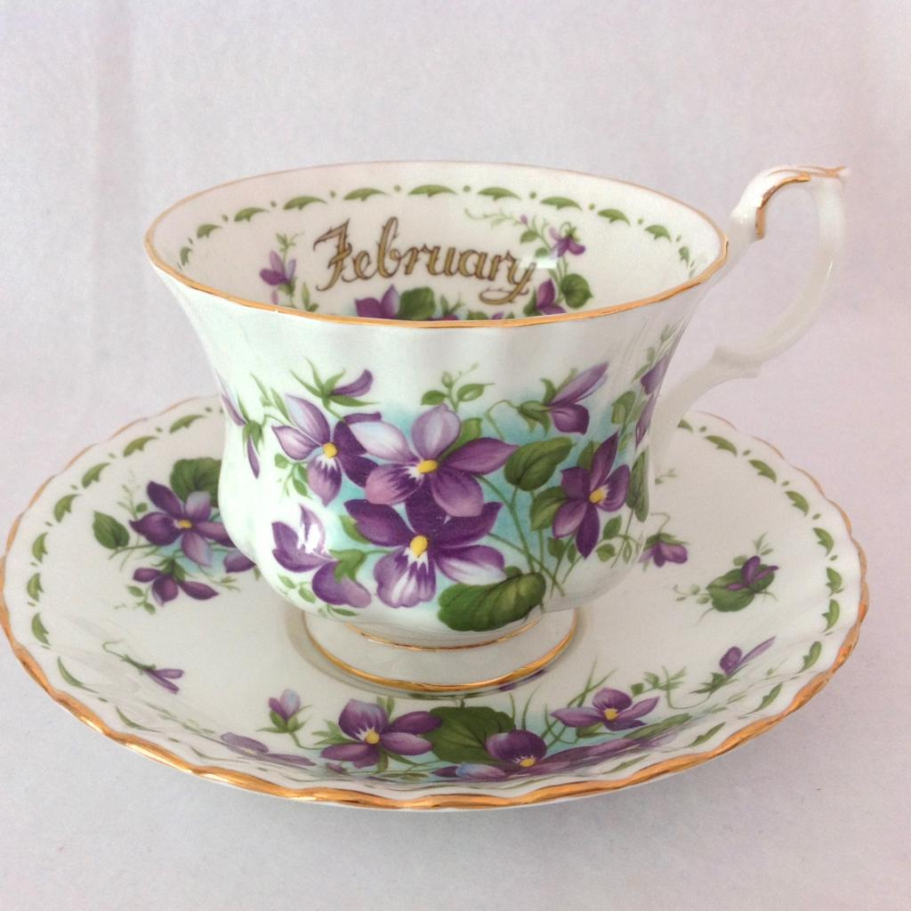 Royal Albert Bone China February Flower Of The Month