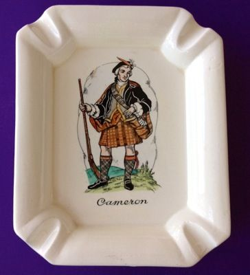 Scotsman Cameron Clan Ashtray Plichta London England