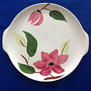 Stetson Rio Meadow Rose Round Two-Handled Serving Platter