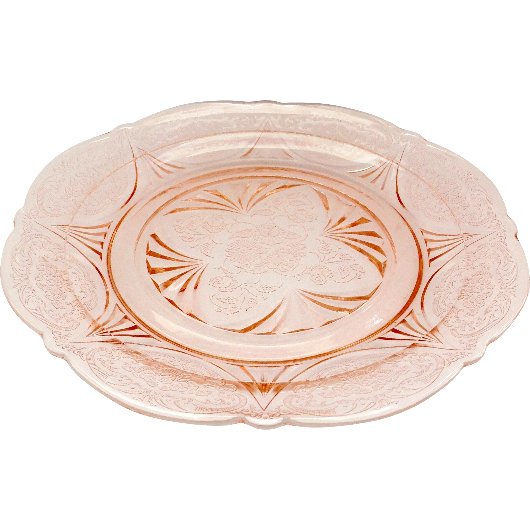Hazel Atlas Royal Lace Pink Depression Glass Dinner Plate