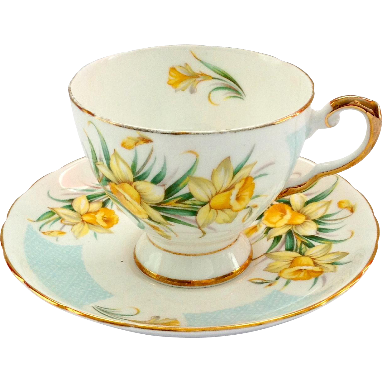 Tuscan March Daffodil Bone China Teacup and Saucer