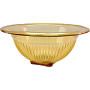 Federal Golden Glow Amber Depression Glass Mixing Bowl