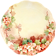 Haviland Limoges Hand Painted Cherry Blossoms Plate Circa Early 1900s - Red Tag Sale Item