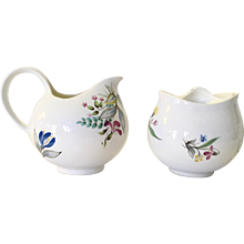 HallCraft by Eva Zeisel Tomorrow's Classic Sugar and Creamer Set Bouquet 1881