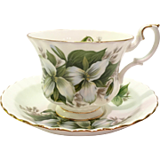 Royal Albert Bone China Trillium Teacup and Saucer