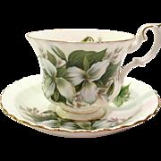 Royal Albert Bone China Trillium Teacup and Saucer