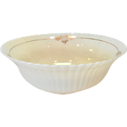 Petalware Cremax with Gold Trim Depression Glass Large Berry Bowl by MacBeth Evans