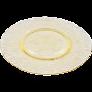 Florentine/Poppy No.2 Yellow Depression Glass Dinner Plate Hazel-Atlas