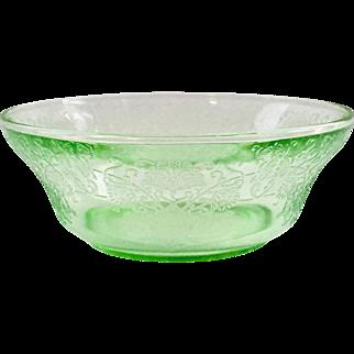 Florentine/Poppy No. 2 Green Depression Glass 4-1/2 inch Berry Bowl Hazel-Atlas