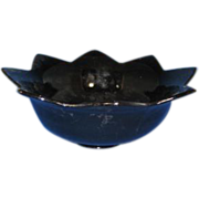 Fenton Glass Flared #848 Black Console Bowl circa 1930s