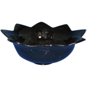 1930s Fenton Glass Flared #848 Black Console Bowl