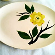 Stetson Dixie Dogwood Hand Painted Oval Platter