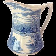 Alfred Meakin Tintern Blue Transfer Ware Jug