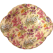 Lord Nelson Ware Heather Chintz Lugged Cereal Bowl Circa 1940s